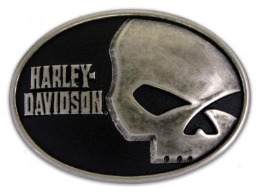harley davidson g rtelschnalle skull font im thunderbike shop. Black Bedroom Furniture Sets. Home Design Ideas