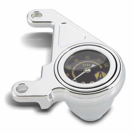 Arlen Ness Arlen Ness Radius Oil Pressure Gauge Kit, chrome  - 05-889