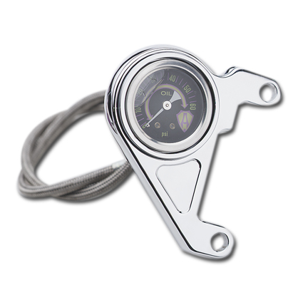 Arlen Ness Ness Radius Oil Pressure Kit, black  - 65-4117