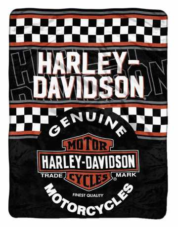 H-D Motorclothes Harley-Davidson Decke Finish Line Micro 100 x 152 cm  - 079922