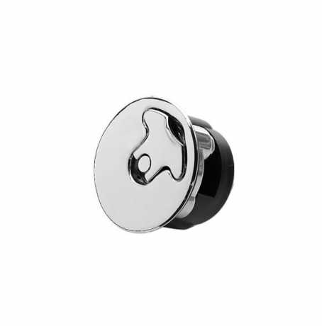 Custom Chrome Replacement Aircraft Style Vented Gas Cap with Lock, chrome  - 08-668