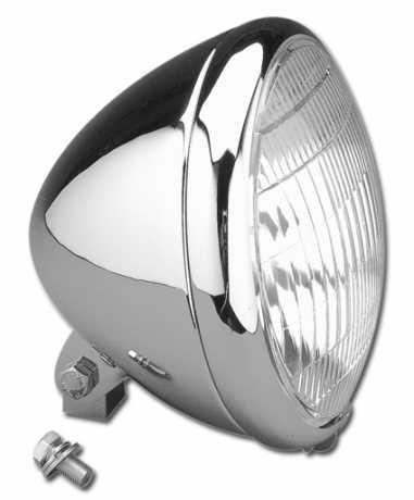 Springer Headlight, Late Model 6,5 inch, halogen bulb, chrome  - 09-754