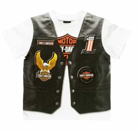 """H-D Motorclothes H-D Toddler Boy Jersey T-Shirt """"Motorcycle Vest""""  - 1072625V"""