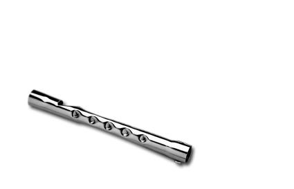 "Custom Chrome Drag-Pipe Baffle 1 3/4"" x 12""  - 11-231"