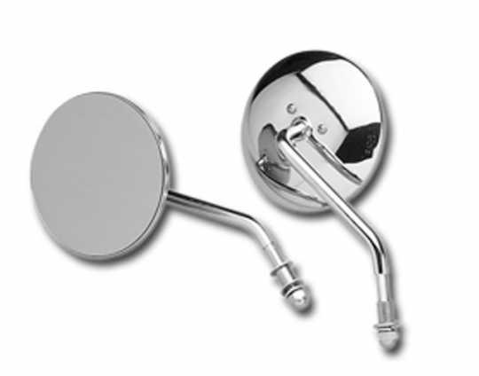 "Custom Chrome Custom Chrome 4"" Round Mirror short stem chrome  - 12-259V"