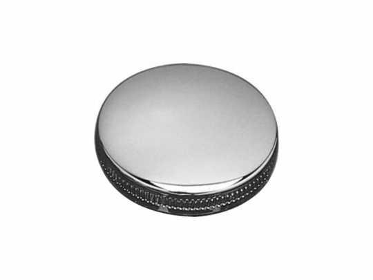 Custom Chrome Gas Cap OEM Style, right, Plain Vented  - 12-725