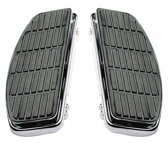 Custom Chrome Rectangular Shaker floorboards chrome  - 12-997