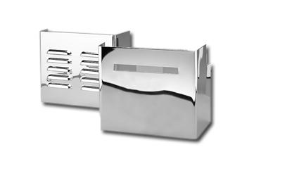 Custom Chrome Batterieverkleidungen geschlitzt / chrom - 26-375