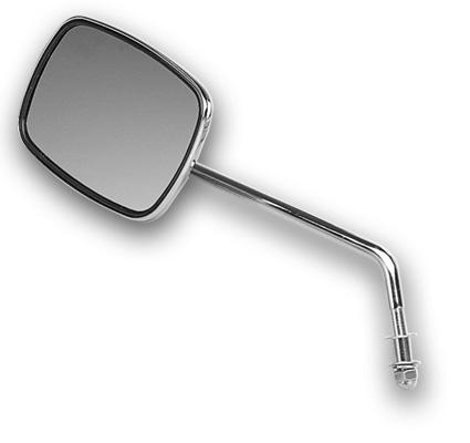 Custom Chrome Custom Chrome Mirror with long arm, left chrome  - 12-372