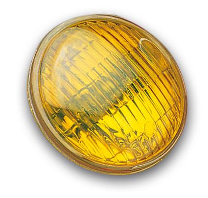 "Custom Chrome Sealbeam 4 1/2"" amber fluted  - 12-482"