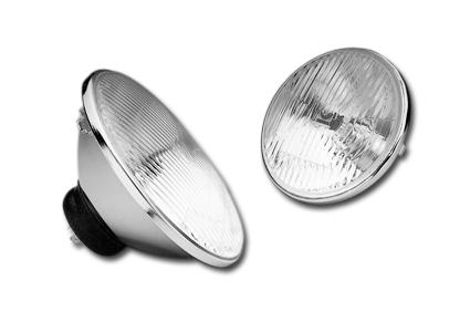 Custom Chrome Halogen Lamp with Bulb H4  - 12-525V