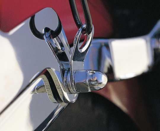 Custom Chrome Tie Down Bracket & Cable Guide (10)  - 12-703