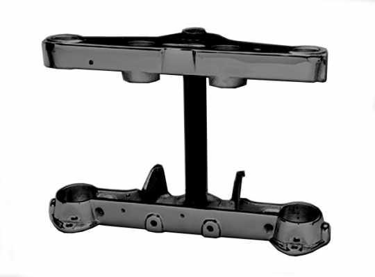 Custom Chrome Gabelbrücken Kit schwarz mit TÜV  - 13-028