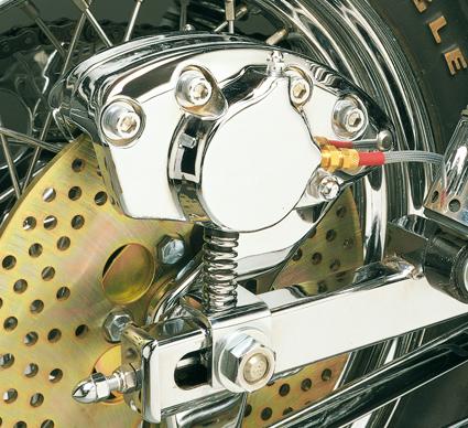 Daytona Japan Rear Brake Caliper, OEM Style, Chrome  - 13-012