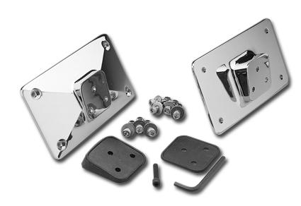 Custom Chrome License Plate Bracket Rubbers for Laydown  - 13-299