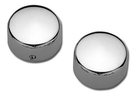 Custom Chrome Swingarm Pivot Nut Covers, chrome  - 14-317