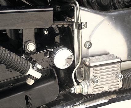 Custom Chrome Swingarm Pivot Bolt Cover chrome  - 14-318