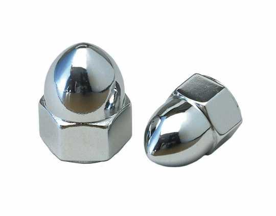 Custom Chrome Hutmutter Acorn 3/8-24 chrom  - 14-613