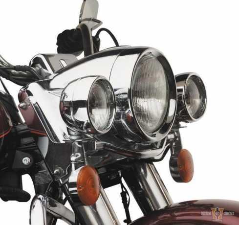 Custom Chrome Frenched Head Light Trim Ring Chrome  - 15-551