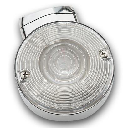 Custom Chrome Turn Signal Lens, Late Style, Clear 83mm  - 15-158