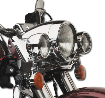 Frenched Headlamp Trim chrome