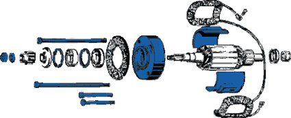 Generator Stahlscheibe, oil deflector  - 26-161