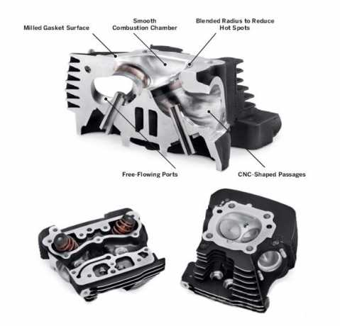 Harley-Davidson Screamin Eagle Pro CNC Ported Factory Zylinderköpfe mit Ventil Upgrade - Komplettes Kit  - 16500013A