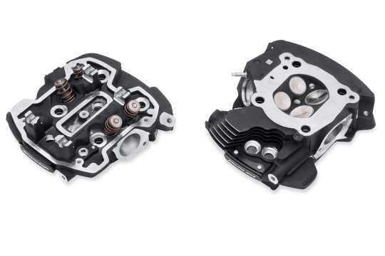 Screamin Eagle Cnc Ported Cylinder Heads, Black Granite