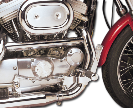 Custom Chrome Forward Control Kit with O-Ring Footpegs  - 17-545