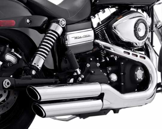 "Vance & Hines Twin Slash 3"" Slip-Ons, Chrom"