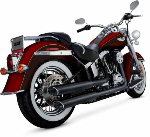 vance hines ec twin slash slip ons schwarz f r softail. Black Bedroom Furniture Sets. Home Design Ideas
