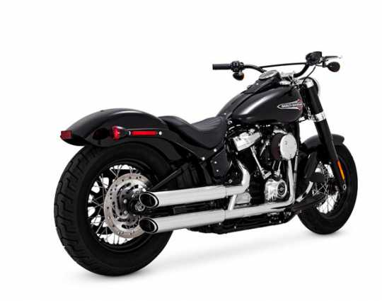"Vance & Hines Twin Slash 3"" Slip-Ons Chrom"