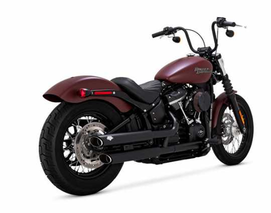 "Vance & Hines Twin Slash 3"" Slip-Ons black wrinkle"