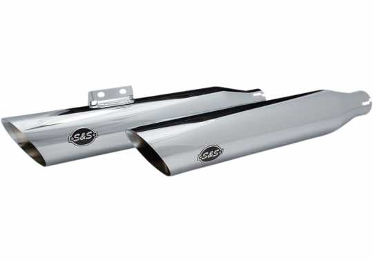 S&S Cycle S&S Muffler Slip On Slash-Cut ECE chrome  - 18011384