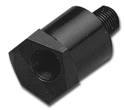 Custom Chrome Single Oil Gauge Fitting black  - 18-199