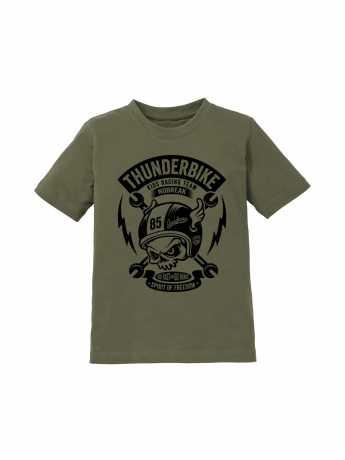 Thunderbike Clothing Thunderbike Kids T-Shirt Boneracer Olive  - 19-01-1154V