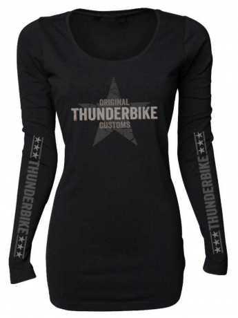 Thunderbike Clothing Thunderbike Damen Longsleeve Vintage Custom, schwarz  - 19-10-1001V