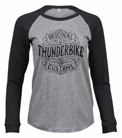 Thunderbike Clothing Thunderbike women´s Longsleeve Original grey/black  - 19-10-1220V