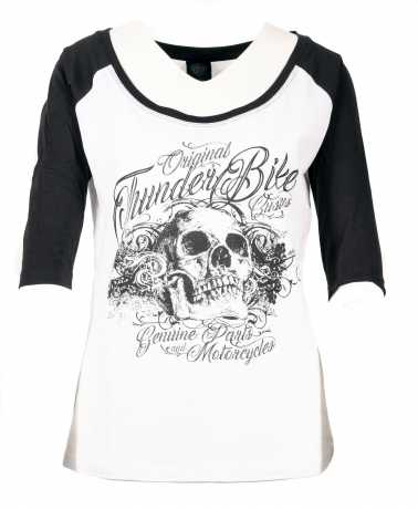 Thunderbike Clothing Thunderbike Damen T-Shirt 3/4 Floral Skull  - 19-10-1372V