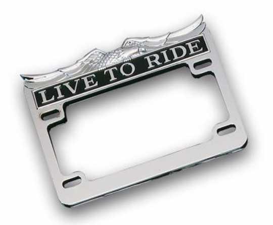 Custom Chrome Live To Ride License Frame 175 x 100 mm (USA), chrome  - 19-105
