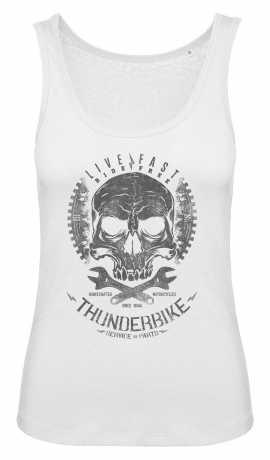 Thunderbike Clothing Thunderbike Damen Tank Top Death Head weiß XL - 19-11-1072/002L