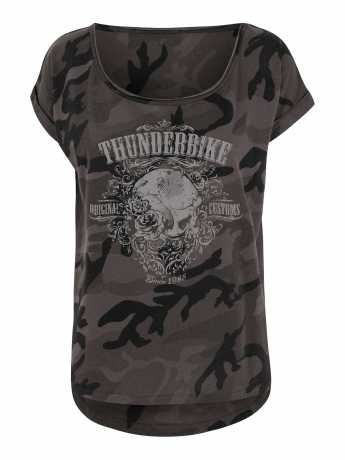 Thunderbike Clothing Thunderbike Women T-Shirt Grunge Skull black  - 19-11-1126V