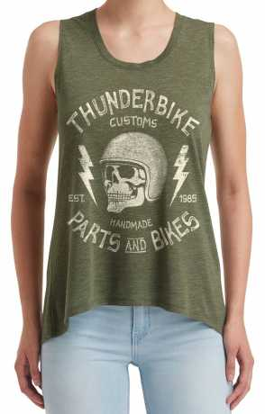 Thunderbike Clothing Thunderbike Damen Tank Top Helmet Skull oliv grün  - 19-11-1304V