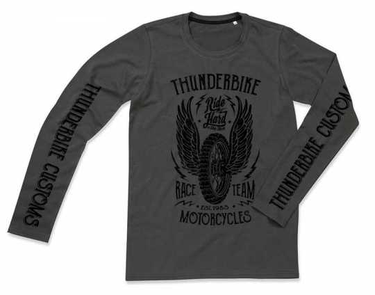Thunderbike Clothing Thunderbike Longsleeve Race Team, grau  - 19-30-1053V