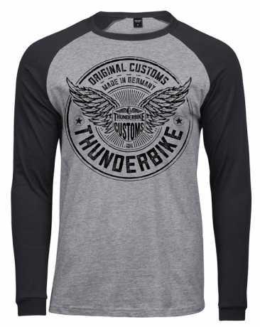 Thunderbike Clothing Thunderbike Longsleeve Flying Customs schwarz/grau  - 19-30-1260V