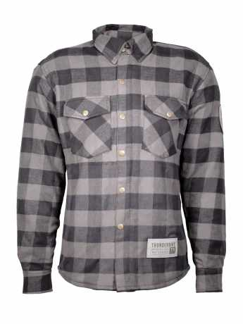 Thunderbike Clothing Thunderbike Plaid Biker Shirt, grey / black  - 19-31-0023V