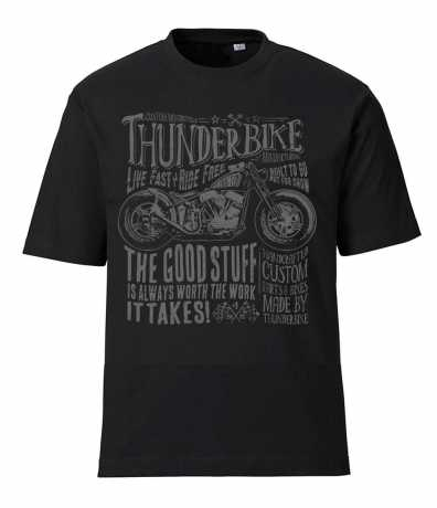 Thunderbike Clothing Thunderbike T-Shirt Flying Pan, black  - 19-31-1021V