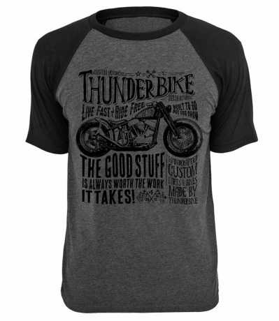 Thunderbike Clothing Thunderbike T-Shirt Flying Pan, grey S - 19-31-1023/000S