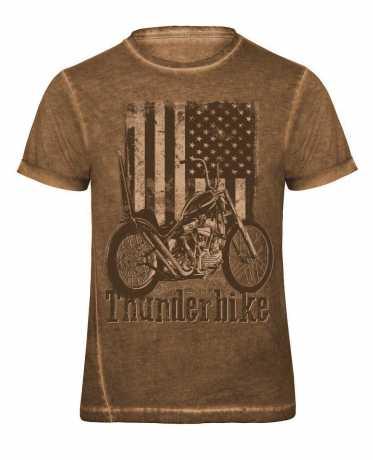 Thunderbike Clothing Thunderbike T-Shirt US Flag, braun  - 19-31-1045V