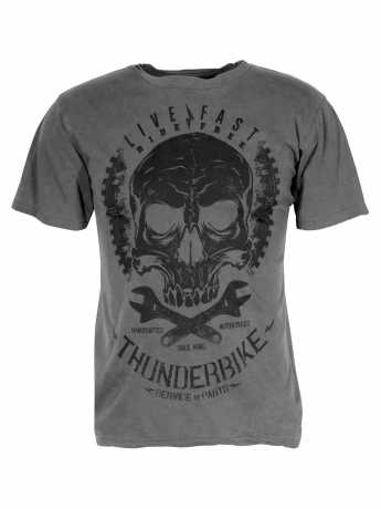 Thunderbike Clothing Thunderbike T-Shirt Death's Head, grau XXL - 19-31-1073/022L